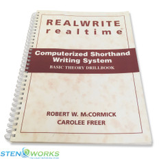 REALWRITE RT Computerized Shorthand Writing System  Basic Theory Drillbook - Very Good Condition