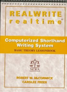 REALWRITE RT Computerized Shorthand Writing  Basic Theory Lesson Book - Acceptable Condition