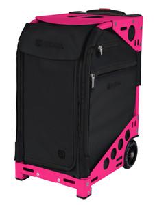 Zuca Professional Wheelie Case for Stenograph in Black - New Neon Pink Frame