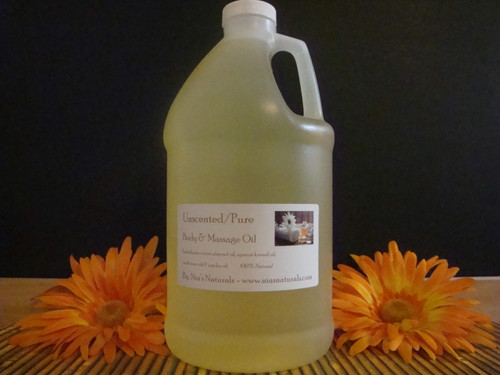 Unscented Body & Massage Oil 64oz/Half Gallon Jug