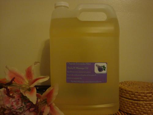 Organic Lavender Mint Body & Massage Oil 128oz/1 Gallon Jug