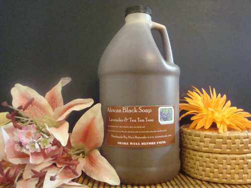 RAW LIQUID AFRICAN BLACK SOAP 64 OZ (1/2 GALLON) U-PICK! FREE SHIPPING
