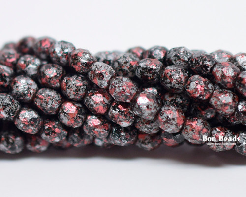 4mm Granite Galaxy Red Round Fire Polished (600 Pieces)