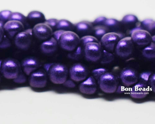 4mm Eggplant Iris Wide Cap Mushroom Buttons (600 Pieces)