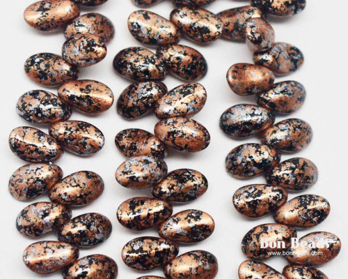 4x6mm Granite Galaxy Gold Curved Tooth (300 Pieces)