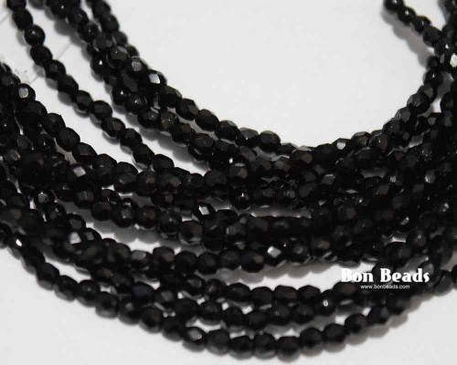 True 2mm Black Round Fire Polished (600 Pieces)