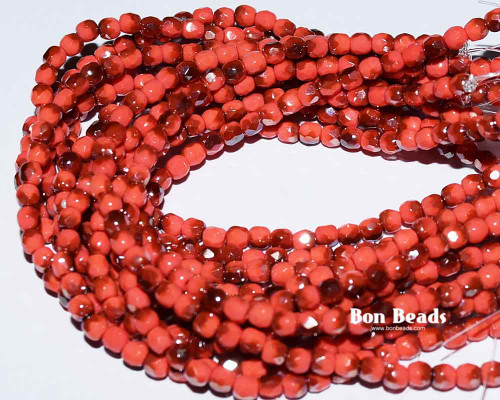 3mm Coral Celsian Round Fire Polished (600 Pieces)