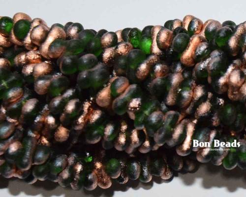 3x6mm Emerald Copper Etched Farfalles (1/4 Kilo)