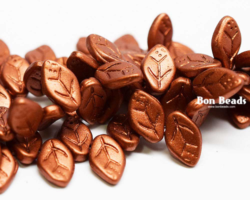 12x7mm Old Copper Leaves (300 Pieces)