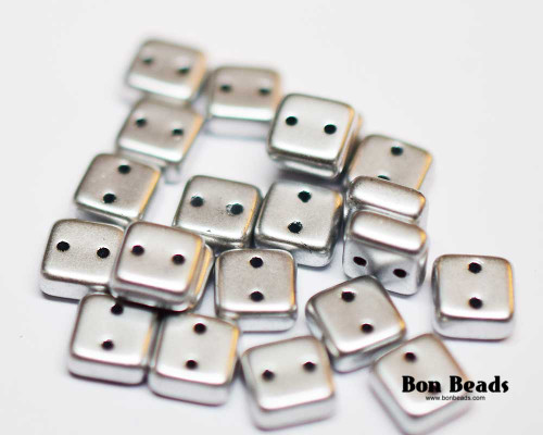 6mm Silky Silver 2 Hole Chexx (50 Grams)