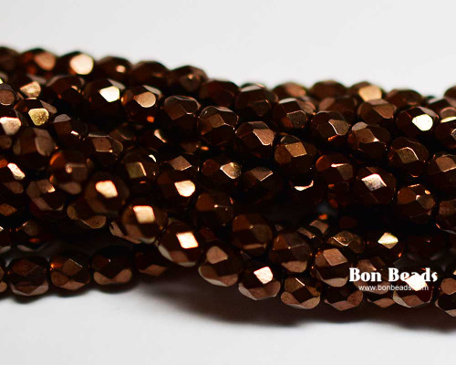 4mm Antique Bronze Round Fire Polished (600 Pieces)