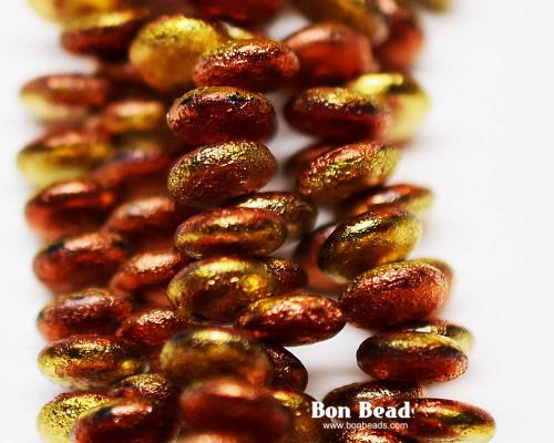 6mm California Gold Etched Lentils (300 Pieces)