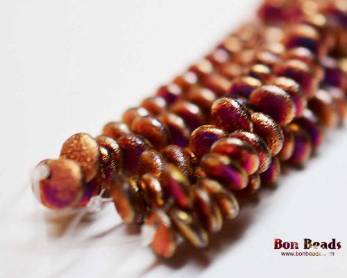 6mm California Purple Etched Lentils (300 Pieces)
