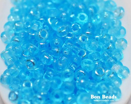 8/0 Aqua AB Etched Round (50 Grams)