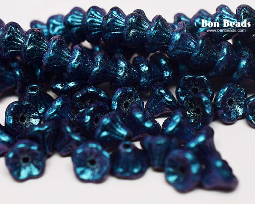 7x5mm Lapis Miracle Iris Flower Cups (300 Pieces)