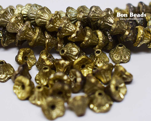 7x5mm Gold Etched Flower Cups (300 Pieces)