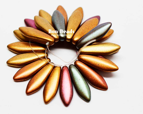 5x16mm Dark Metallic Iris Mix Daggers (300 Pieces)