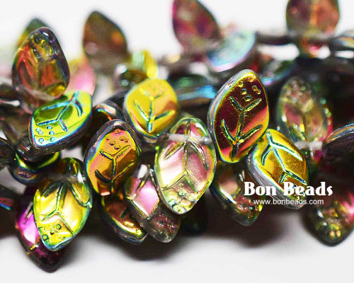 12x7mm Crystal Marea Leaves (300 Pieces)