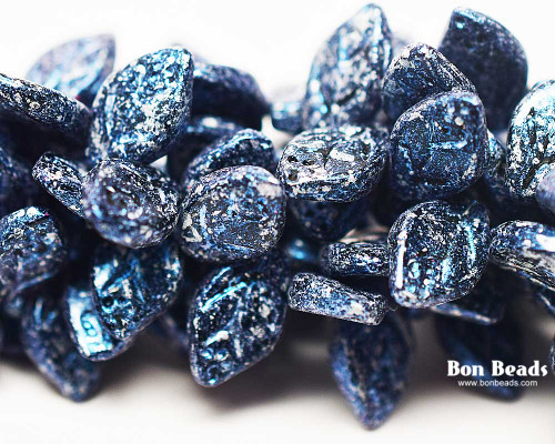 12x7mm Granite Galaxy Lapis Leaves (300 Pieces)