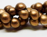 9x8mm Gold Iris Wide Cap Mushroom Buttons (150 Pieces)