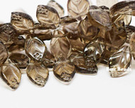 12x7mm Smoke Grey Leaves (300 Pieces)