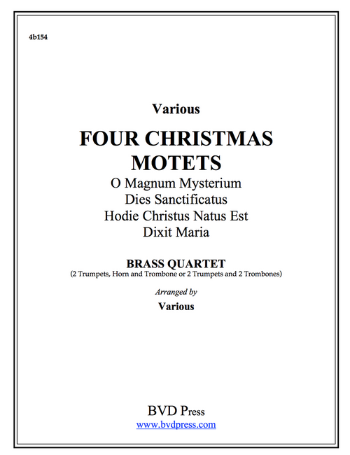 Four Christmas Motets Brass Quartet (Various/arr. Thomas) PDF Download