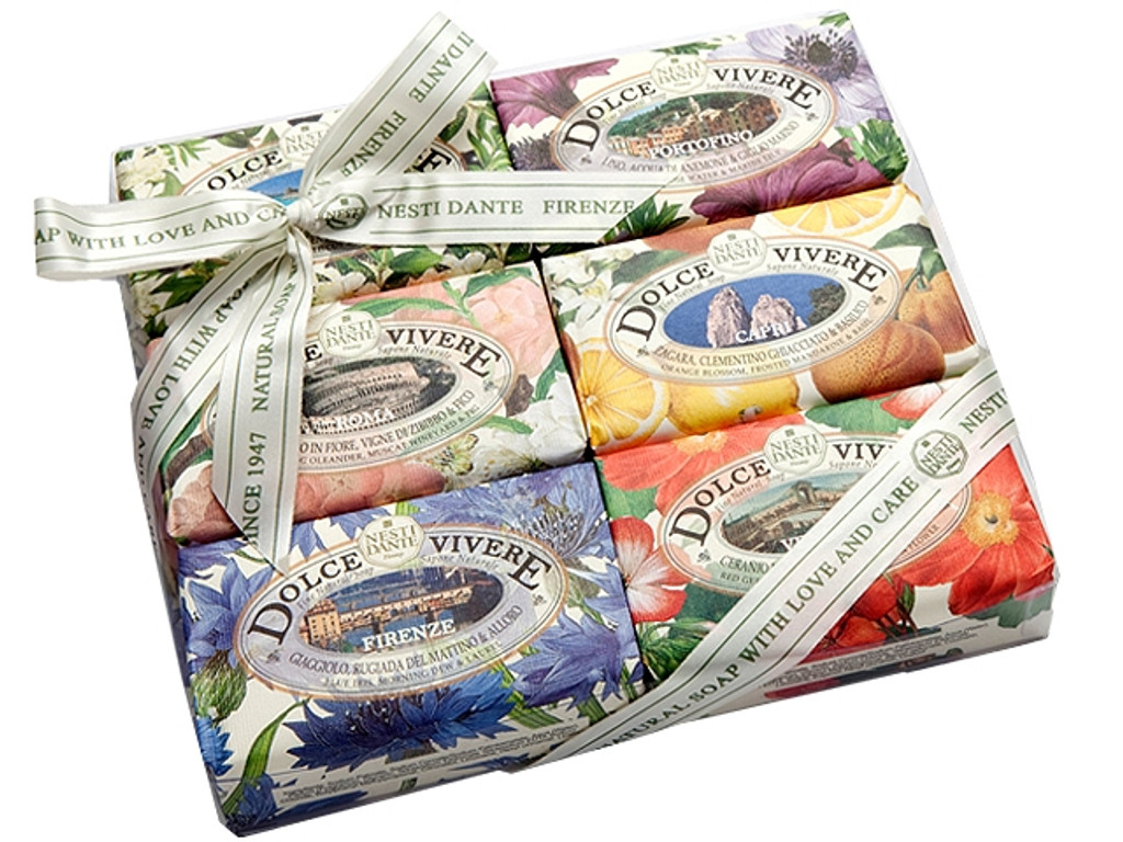 A collection of 6 beautiful and fragrant bars representing wonderful regions of Italy