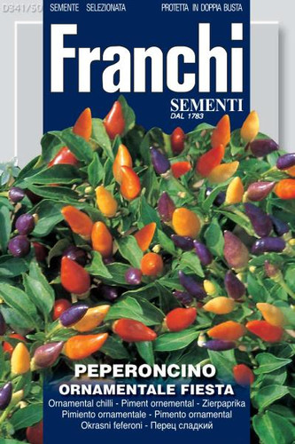 Ornamental Pepper  - Peperoncino Ornamentale Fiesta (341-50)