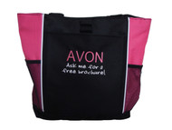 AVON Ask me for a free Brochure! HOT PINK Tote Bag ARIAL & JENKINS Font Style