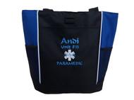 Star of Life ROYAL BLUE Fire Rescue Paramedic EMT EMS MEDIC ER Nurse Tote Font Style CALLIGRAPHY