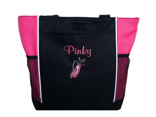 Golf Golfing PINK Tote Bag Font Style CASUAL SCRIPT