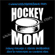 Ice Hockey Puck Mom Vinyl Decal WHITE
