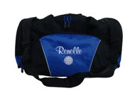 Volleyball Coach Mom Team Personalized Embroidered ROYAL BLUE DUFFEL Font Style CASUAL SCRIPT