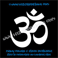 Yoga OM OHM Aum Namaste Symbol Spiritual Vinyl Decal WHITE
