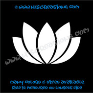Yoga Lotus Flower OM OHM AUM Namaste Symbol Spiritual Vinyl Decal WHITE