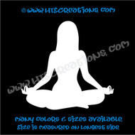 Yoga Pose OM OHM AUM Namaste Spiritual Vinyl Decal WHITE