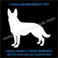 Dog Breed GERMAN SHEPHERD Vinyl Decal Sticker Animal Lover Rescue Canine K9 Police