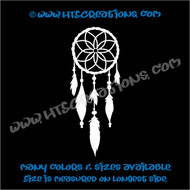 Dreamcatcher Native American Feather Beading Indian Vinyl Decal WHITE