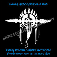 Dreamcatcher Bear Paw Spear Native American Feathers Indian Vinyl Decal WHITE