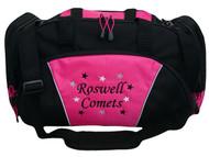Stars Gymnast Gymnastics Dance Twirl Sports Personalized Embroidered TROPICAL HOT PINK Font Style MONO CORSIVA