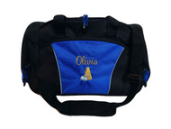 Cheer Bullhorn Cheerleading Poms Dance Sports Personalized Embroidered ROYAL BLUE DUFFEL Font Style CASUAL SCRIPT