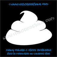 Dog Poop Cute Funny Stinky Vinyl Decal Sticker Rescue Canine WHITE
