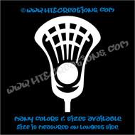 LAX Lacrosse Stick Head Ball Car Truck Boat Wall Helmet Vinyl Decal WHITE