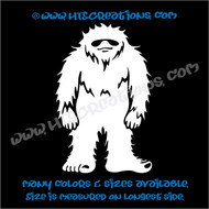 Sasquatch Big Foot Yetti Cool Shades Truck Bumper Laptop Wall Vinyl Decal WHITE