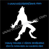 Werewolf Wolfman Folklore Dog Witch Hunt Vinyl Decal Truck Laptop Wall Tablet Vinyl Decal WHITE