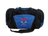 LAX Lacrosse Goalie Sports Gym ROYAL BLUE Monogrammed Personalized Embroidered Duffel Font Style VARSITY