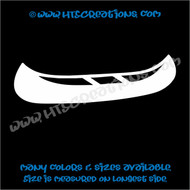 Canoe Camping Lake Boat Vinyl Decal Trailer Truck Laptop Tablet Vinyl Decal WHITE