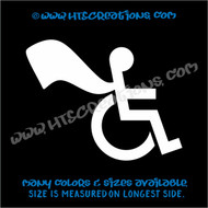 Wheelchair Handicap Super Hero Boy Special Needs Vinyl Decal Truck Laptop Tablet Vinyl Decal WHITE