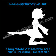 Irish Dancer Ghillie Feis Dance Kick Celtic Vinyl Decal Laptop Car WHITE