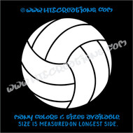 Volleyball Water Polo Sports Vinyl Decal Laptop Car Door Mirror Truck Vanity Boat WHITE